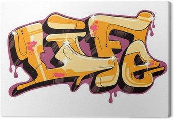 Canvastavla Graffiti vektor textdesign