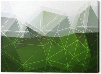 Canvastavla Grön abstrakt bakgrund