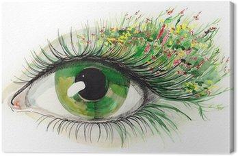 Canvastavla Grön mänskliga ögat (serie C)