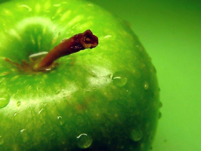 Canvastavla Grönt äpple - Teman