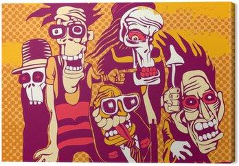 Canvastavla Grunge bakgrund med halloween person, CD-omslag
