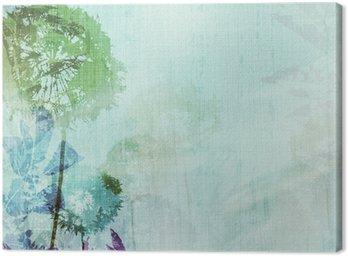 Canvastavla Grunge bakgrund med maskrosor