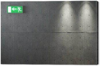 Canvastavla Grunge betong konsistens vägg