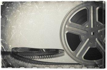 Canvastavla Grunge gamla spelfilm film rulle med filmremsa.