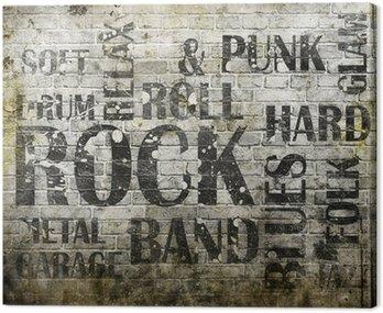 Canvastavla Grunge rockmusik affisch