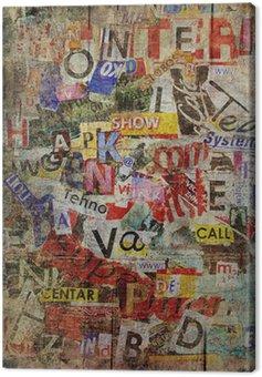 Canvastavla Grunge texturerad bakgrund