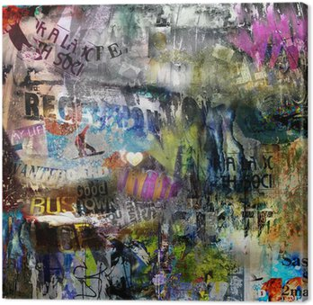 Canvastavla Grungy stil rivna affisch bakgrund