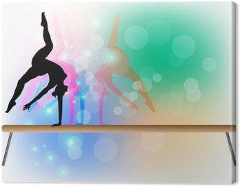 Canvastavla Gymnastik - Beam