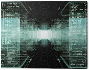 Canvastavla Hacker värld