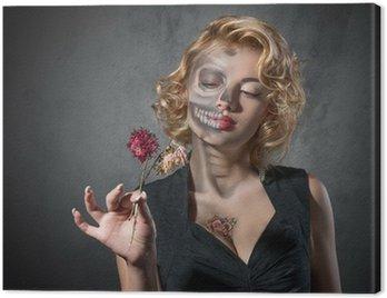 Canvastavla Halloween-kostym - porträtt av döda skådespelare