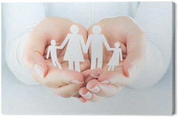 Canvastavla Händer kvinna uttrycker begreppet familjen