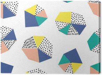 Canvastavla Handritad seamless med penseldrag och geometrisk figur.