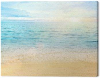 Canvastavla Hav och sand bakgrund