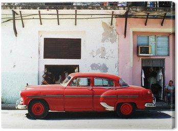 Canvastavla Havana bil