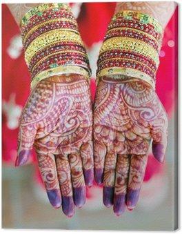 Canvastavla Henna bröllopdesign