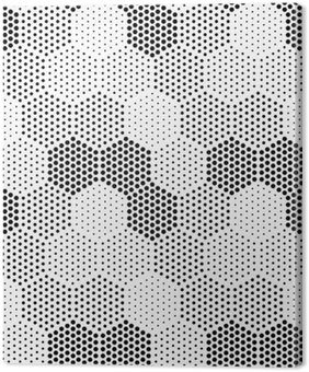 Canvastavla Hexagon illusion Mönster