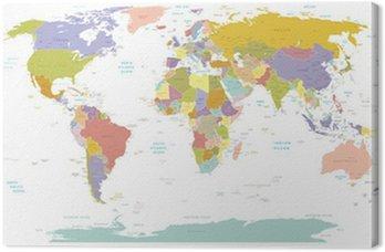Canvastavla High Detail World map.Layers används.