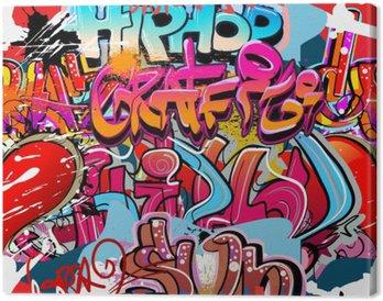 Canvastavla Hip hop graffiti urban konst bakgrund