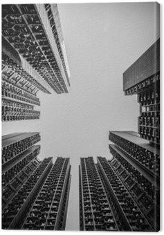 Canvastavla Hong Kong stadsbilden svartvit Tone