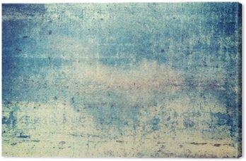 Canvastavla Horisontellt orienterad blåfärgad grunge bakgrund