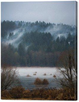 Canvastavla Höst Fördunklar / dimmor Vancouver Island