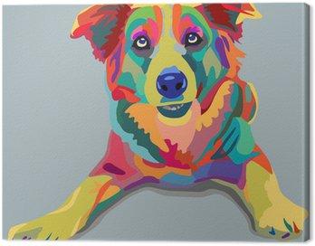 Canvastavla Hund pop-art