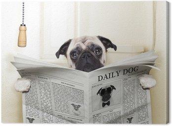 Canvastavla Hund toalett