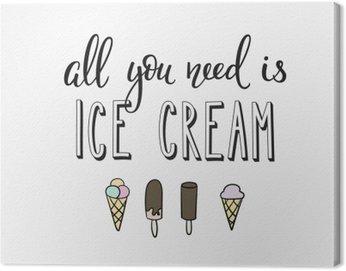 Canvastavla Ice cream shop marknadsföring motivation reklam