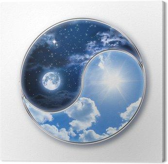 Canvastavla Icon tao - måne och sol