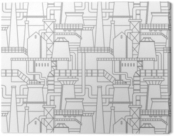 Canvastavla Industristad mönster