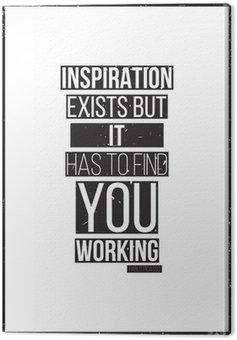 Canvastavla Inspiration finns men det måste hitta arbete. pablo Picass