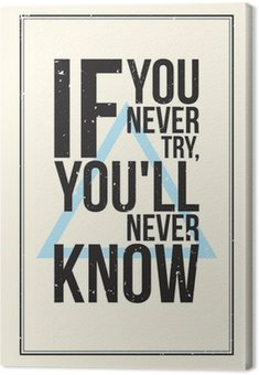 Canvastavla Inspiration motivation affisch. grunge stil