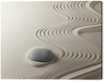 Canvastavla Japansk zen garden