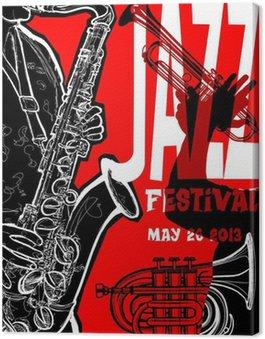 Canvastavla Jazz affisch med saxofonisten