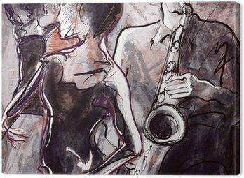 Canvastavla Jazz band med dansare
