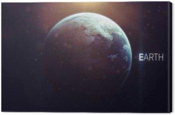 Canvastavla Jord - Högupplöst vacker konst presenterar planet i solsystemet. Denna bildelement som tillhandahålls av NASA