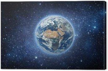 Canvastavla Jord och Galaxy. Delar av denna bild som tillhandahålls av NASA.