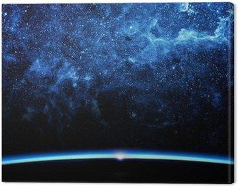 Canvastavla Jorden och galaxen.