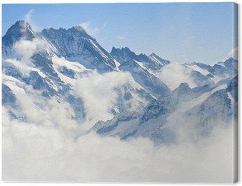 Canvastavla Jungfraujoch Alperna fjällandskap