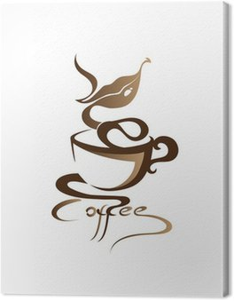 Canvastavla Kaffe