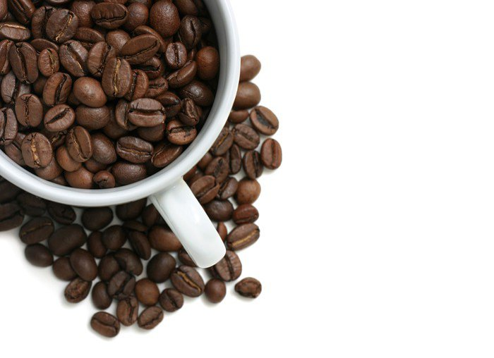 Canvastavla Kaffebönor cup - Teman