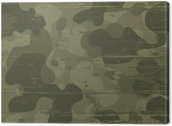 Canvastavla Kamouflage militär bakgrund. Vektor, Illustration, EPS10