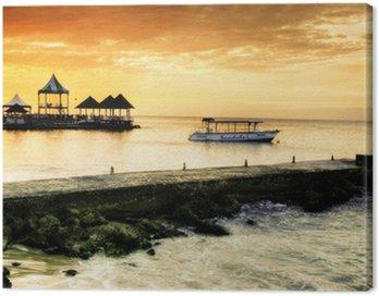 Canvastavla Karibisk solnedgång