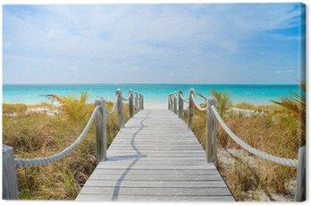 Canvastavla Karibisk strand