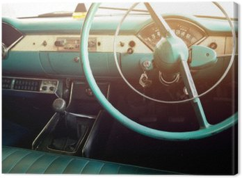 Canvastavla Klassisk bil - fordonets inre tappning