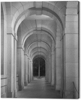 Canvastavla Klassisk korridor av historisk arkitektur