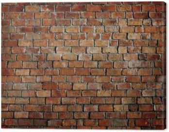 Canvastavla Klassiska Vackra Strukturerad Brick Wall