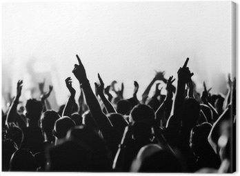 Canvastavla Konsertfolkmassan framför klarblå scenbelysningen