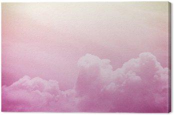 Canvastavla Konstnärlig mjuka moln och himmel med grunge Pappersstruktur