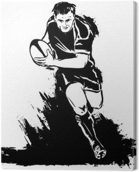 Canvastavla Kör rugby med bollen